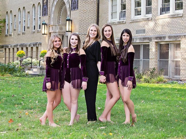 The Prescott dance team and coach