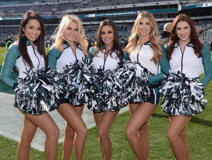 Philadelphia Eagles Cheerleaders Vera Wang designed uniforms
