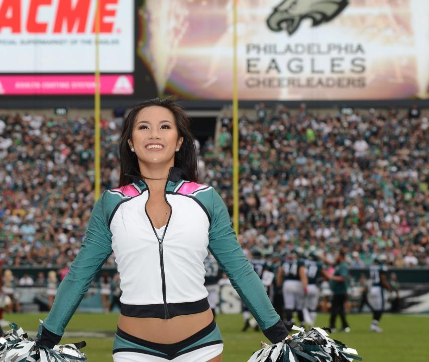 Philadelphia Eagles Cheerleaders Breast Cancer Awareness Jackets