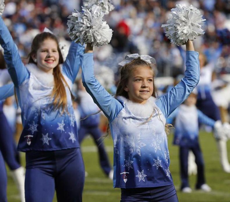 titans junior cheer frozen themed