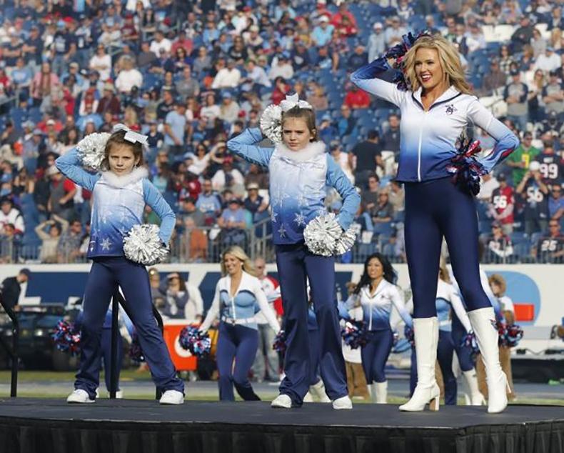 titans frozen themed cheer uniforms