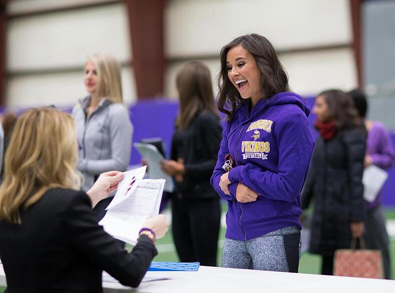 minnesota vikings audtions - dance after hich school