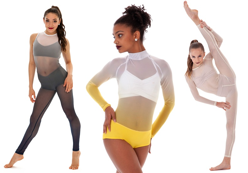 top dance costume trends - all mesh