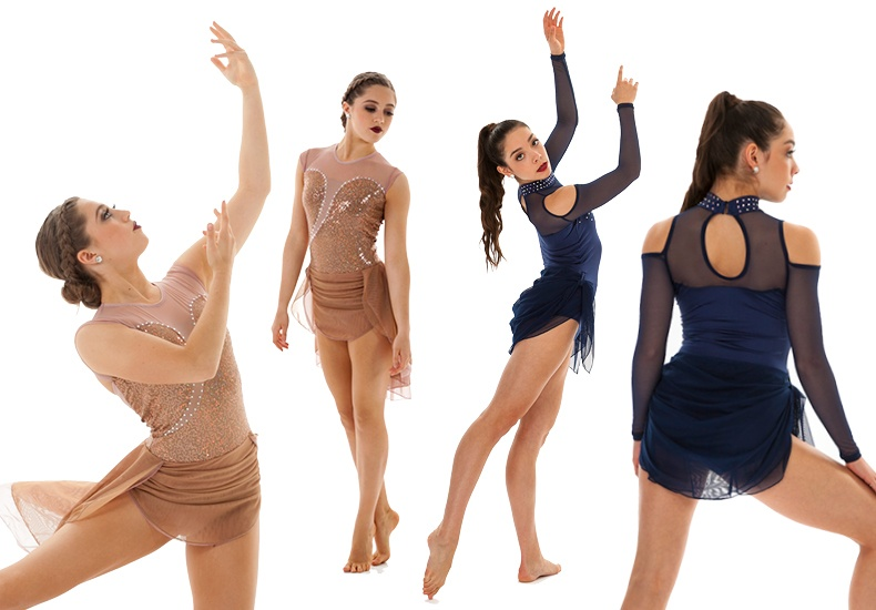 top dance costume trends - ruched skirt