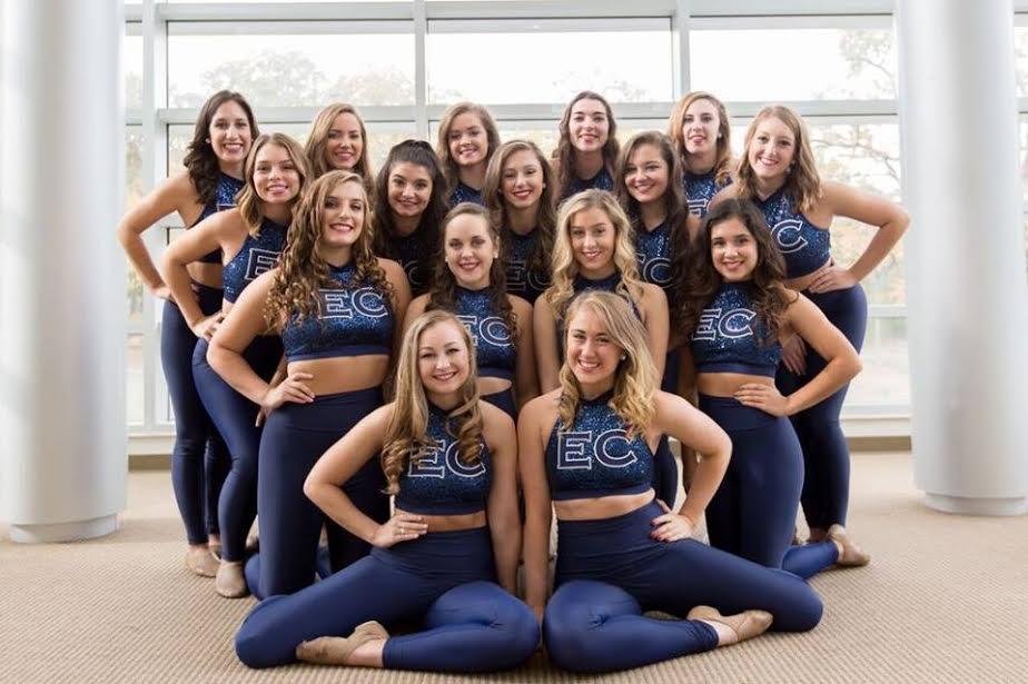 Endicott College Dance Team Pom Uniform