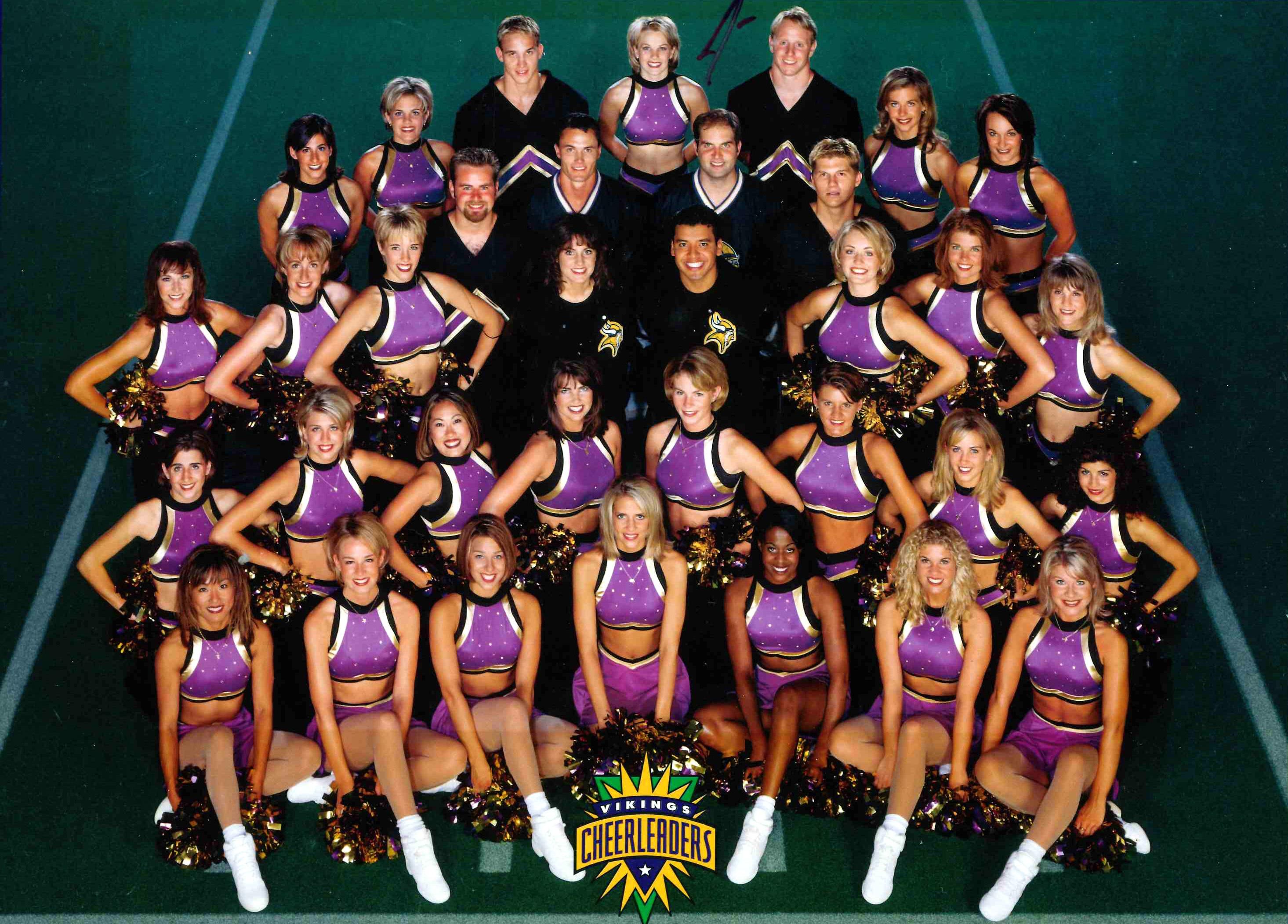 minnesota vikings cheerleaders vintage uniforms
