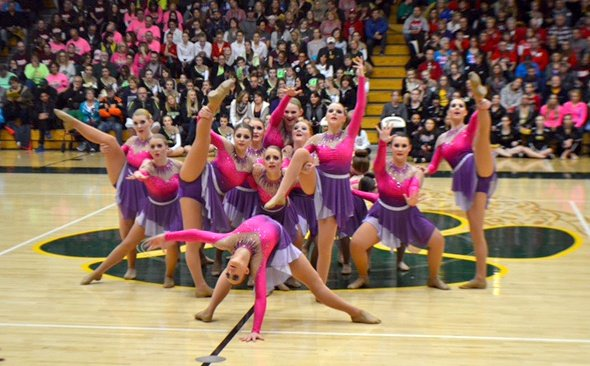 Waupaca high School dance team custom jazz costume