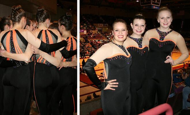 West De Pere High School Dance Team Custom Kick Costume