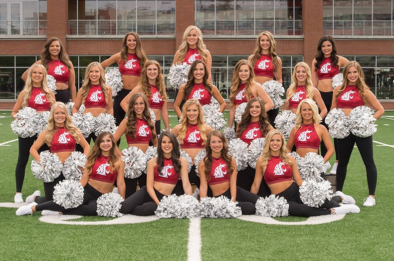 WSU Crimson Cheer Uniforms Cougars