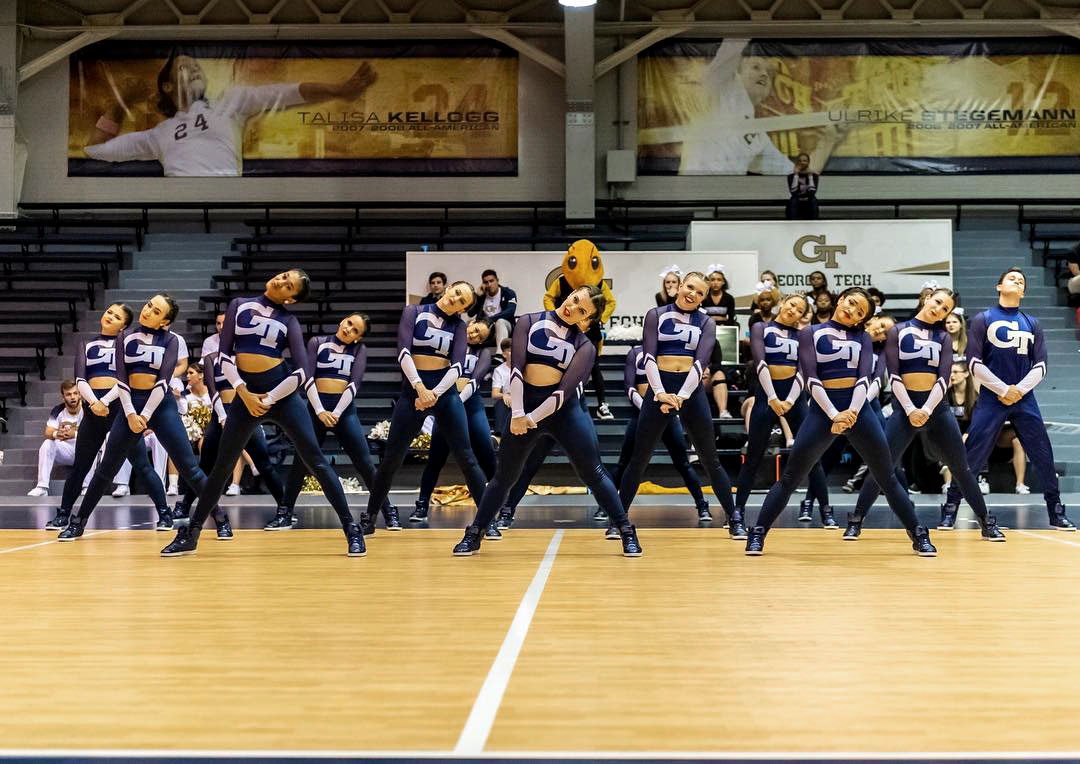 Georgia tech gold rush dance team hip hop costume