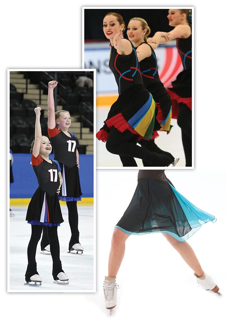 Fishtail Skirt style Synchronized Skating Dresses